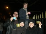 New Year's Eve: A few pictures from our brief foray out into the cold to watch the fireworks on the banks of the Thames in London with Mark, Jim and Cristelle.