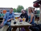 "Riverside Bar: At the Riverside Bar in Reading with Rob, Kate and Byrnie when I was ""passing through"" England for one night en route from Seattle to Japan."