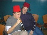 Arabic Night: [Thursday 3rd February 2000] Finally uploaded to the web proper in September 2002 (!!). Scary hypnotists, Fez hats, Nargila, it's all here!