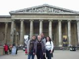 British Museum and Abeno: Me, Simon and friends at the British Museum, and Abeno, a Japanese restaurant just around the corner. Taken the day my second digital camera met its tragic end.