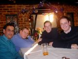 Christmas Curry 2002: Our annual lunchtime outing from the office to the nearby Indian restaurant.