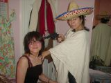 Lounge Bar and Mexican Costume: An unusual set of pictures involving a makeshift cocktail lounge and a Mexican costume.