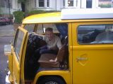 Moving: [Saturday 30th September 2001] Me moving out of my flat in Hampstead, with a little help from Rob and his famous yellow van.
